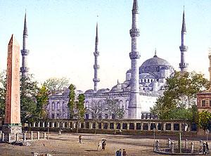Константинополь. Мечеть султана Ахмета. Открытка конца XIX века.