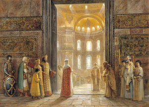 Игорь Машков – Святая равноапостольная княгиня Ольга вступает в храм Святой Софии (Константинополь).