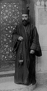 Греческий монах. Фотография начала XX века.