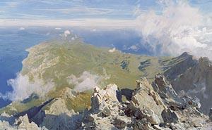 Д. Белюкин - Панорама Афона с вершины Святой Горы.