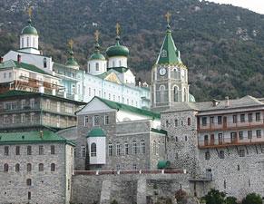 Святая Гора Афон. Монастырь св. Пантелеимона.
