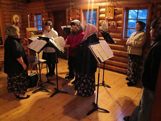 Tuesday Vespers at All Saints of Alaska Chapel, St. Herman Seminary, Fall 2015. Photo: http://www.sthermanseminary.org/