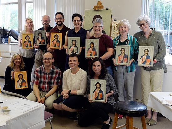 Wesley Theological Seminary, a United Methodist-affiliated school in Washington, D.C., held an iconography class taught by Russian iconographer Philip Davydov in June 2016. Photo courtesy of Wesley Theological Seminary