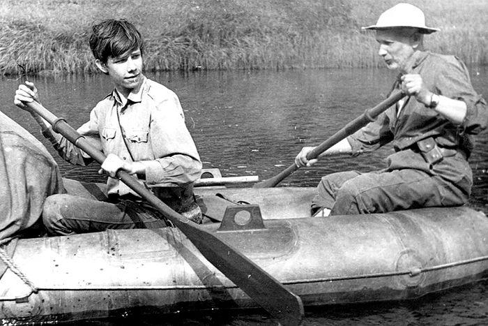 На реке Тиман, 1973 год