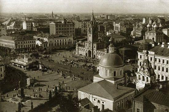 Страстная площадь. Начало 1920-х гг. Фото с сайта kulturologia.ru