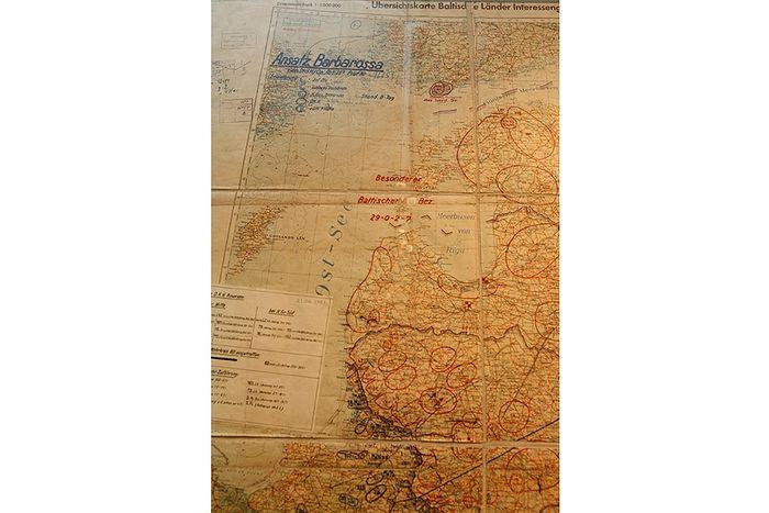 Подлинник плана нападения на СССР Барбаросса. Фрагмент