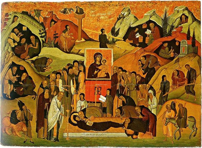 Dormition of St. Ephraim the Syrian. Photo: http://full-of-grace-and-truth.blogspot.ru/2012/01/st-ephraim-syrian.html