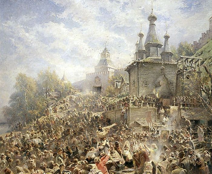 К. Е. Маковский. «Воззвание Минина»
