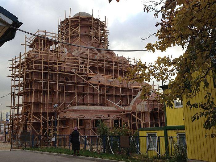 Строительство храма в честь св. кн. Александра Невского
