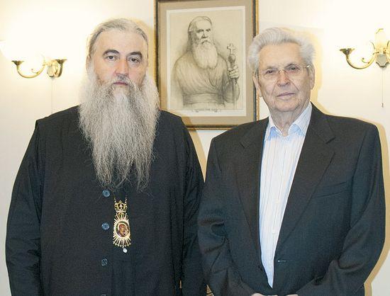 Митрополит Саратовский и Вольский Лонгин и Владимир Григорьевич Аникеев, 2016 г.