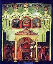Положение Ризы Господней в Москве, икона XVII в.