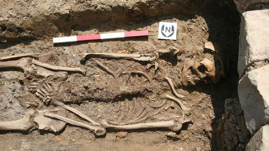 SW HERITAGE TRUST/ About 50 or 60 skeletons were found at the monastic cemetery