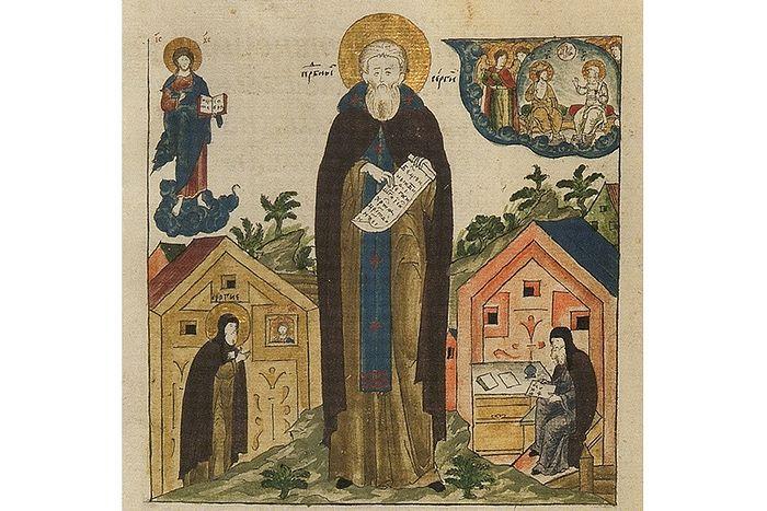 Миниатюра из Лицевого жития Преподобного Сергия
