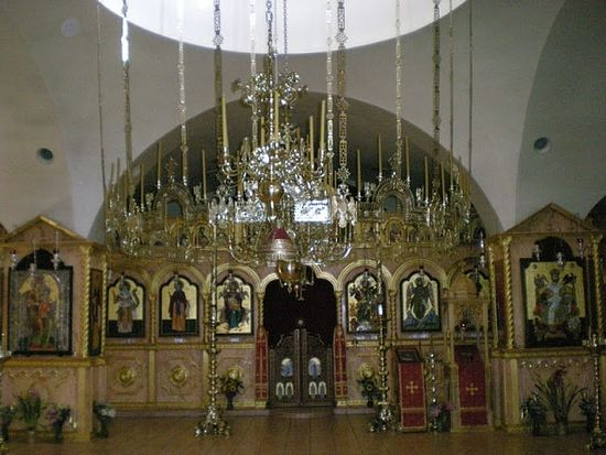 Inside the church of St. Anthony the Great
