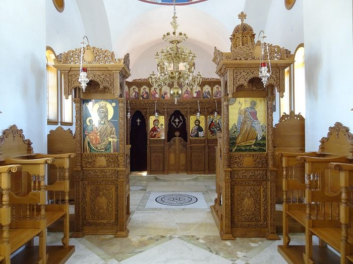 Inside the church of St. Elijah