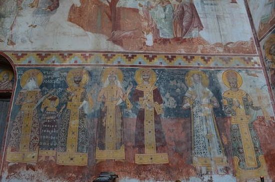 Wall paintings of Gelati Monastery. Photo by Roberto Cantoni.