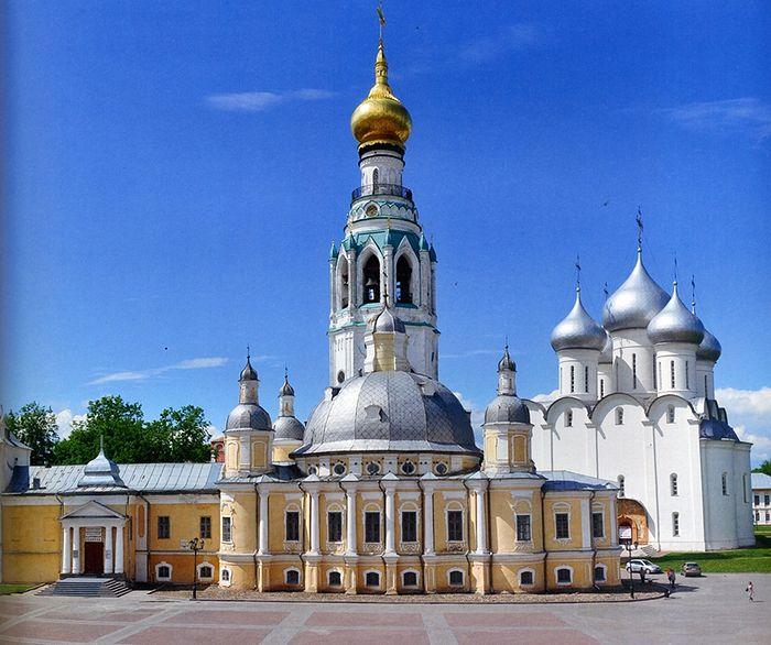 Собор в честь Воскресения Христова, соборная колокольня, Софийской собор. Вологда