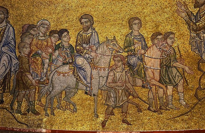 Авраам идет в землю Ханаанскую