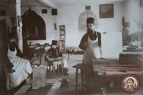 Иконописная мастерская Пантелеимонова монастыря на Афоне