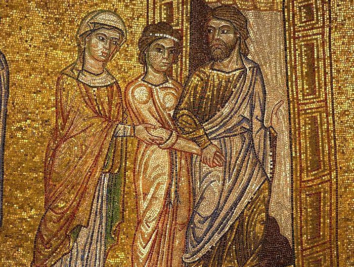 Сарра передает Агарь Аврааму. Италия. Венеция. Собор Святого Марка.