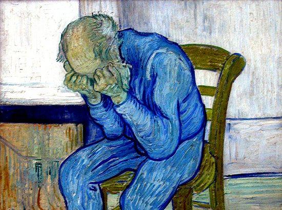 Ван Гог, «У врат вечности» (1890). Изображение с сайта wikipedia.org
