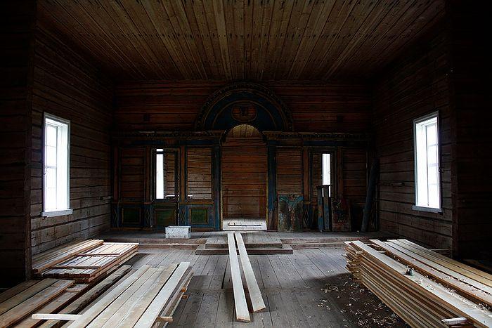 Храм во время ремонтных работ