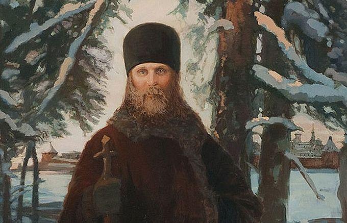 Holy Hieromartyr Hilarion on Solovki (fragment). Artist: Svetlana Ivleva
