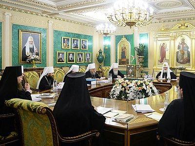 В Москве прошло последнее в 2016 году заседание Священного Синода Русской Православной Церкви