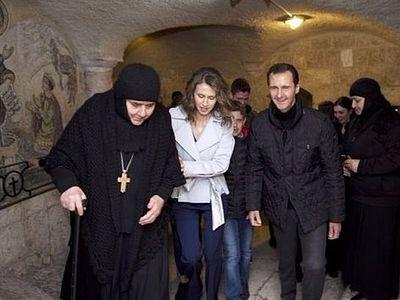 Сирийский президент Башар Асад посетил на Рождество православный монастырь (+ видео)