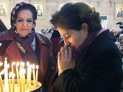 Христиане Алеппо молятся об упокоении душ жертв катастрофы ТУ-154 (+ Видео)