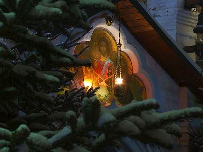 Богослужение в Сретенском монастыре в Неделю 28-ю по Пятидесятнице, перед Рождеством Христовым, святых отец