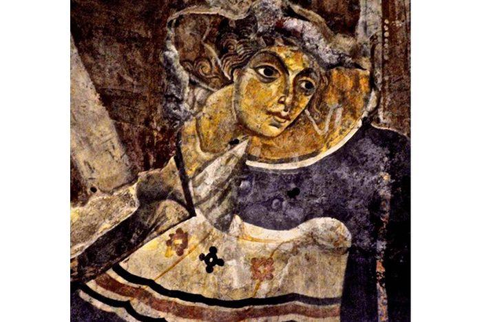 Древняя фреска Ангела