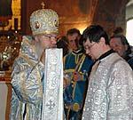 За Божественной Литургией был рукоположен во диакона выпускник семинарии, чтец Колногоров Александр