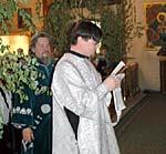 Первая ектения выпускника семинарии диакона Александра Колногорова