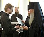 Вручение дипломов выпускникам семинарии