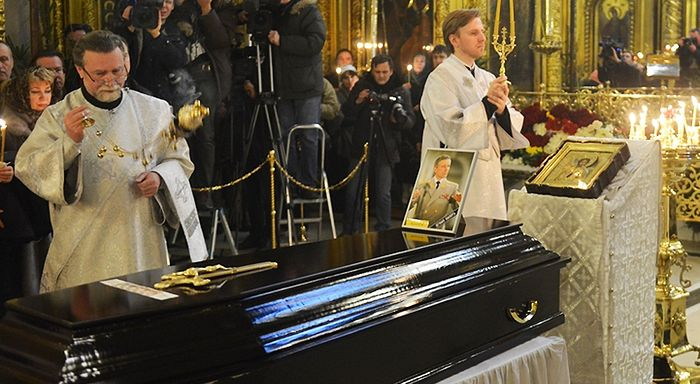 Funeral for Valery Khalilov. Photo: https://mospat.ru/ru/2017/01/16/news141163/