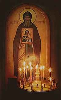 Преподобный Арсений Коневский. Иконописное изображение (Подворье Коневского монастыря в Санкт-Петербурге)
