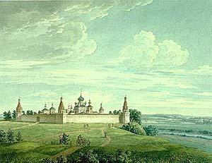 Симонов монастырь, в котором Иосиф был архимандритом (худ. И.Лавров, 1810-е гг.).
