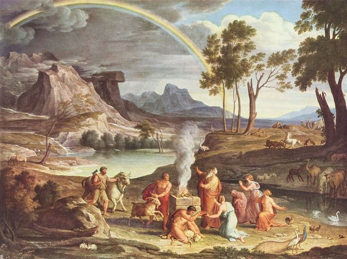 """Landscape with the Sacrifice of Noah,"" I. A. Kokh, c. 1803. State Gallery, Frankfurt am Main"