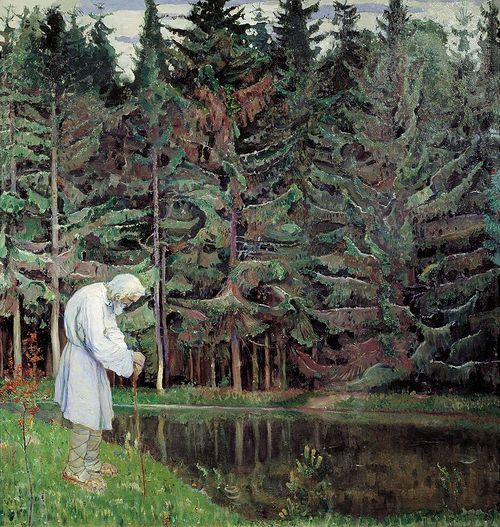 Mikhail Nesterov. Elder. Servant of God Abraham. 1914-1916