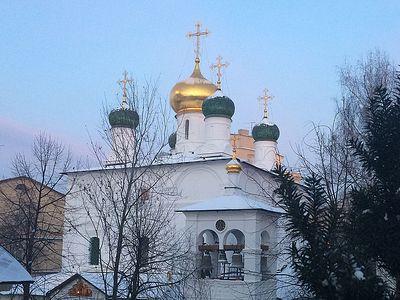 Божественная литургия в Сретенском монастыре в Неделю о мытаре и фарисее, в день памяти новомучеников и исповедников Церкви Русской