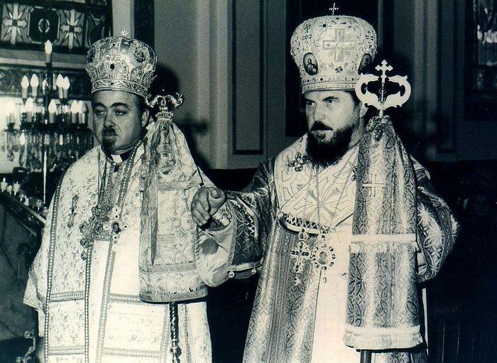 Митрополит Антоний (Шедрауи) с владыкой Никодимом