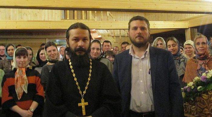 Протоиерей Павел Гумеров и Илья Суслов
