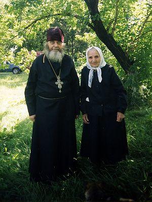 Схимонахиня Павла с о.Гавриилом (Стародубом)