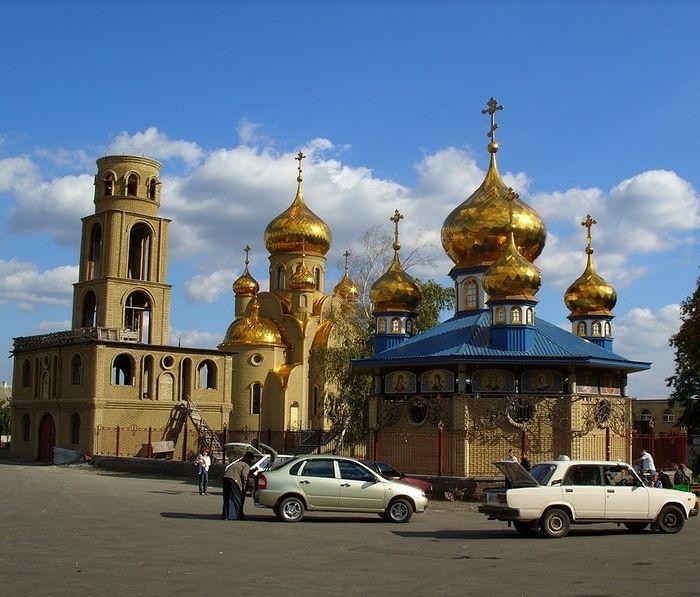 Харцызск. Храм Иверской иконы Богородицы.