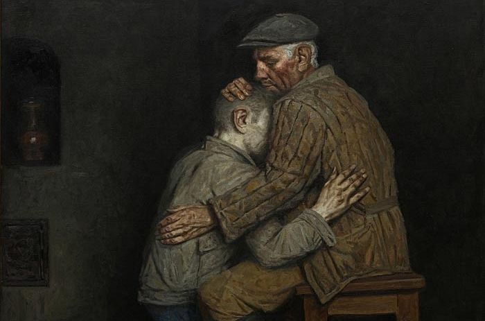 The Prodigal Son. Painting by Geliy Korzhev