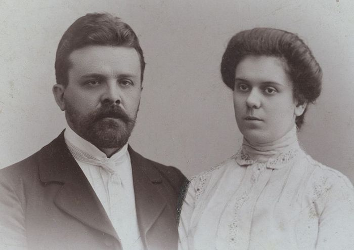 Иван Алексеевич и его супруга Зинаида Петровна Артоболевские