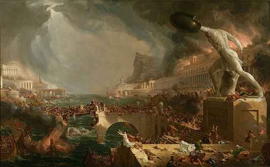 Thomas Cole. The Fall of Rome. Destruction.