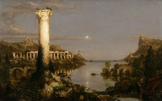 Thomas Cole. The Fall of Rome. Desolation.1836
