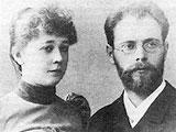 Сильвио (Валентин Амвросиевич) Данини с женой
